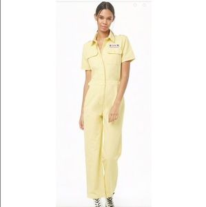 Forever 21 yellow women's  jumpsuit romper S